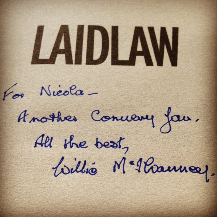Signed Laidlaw Book