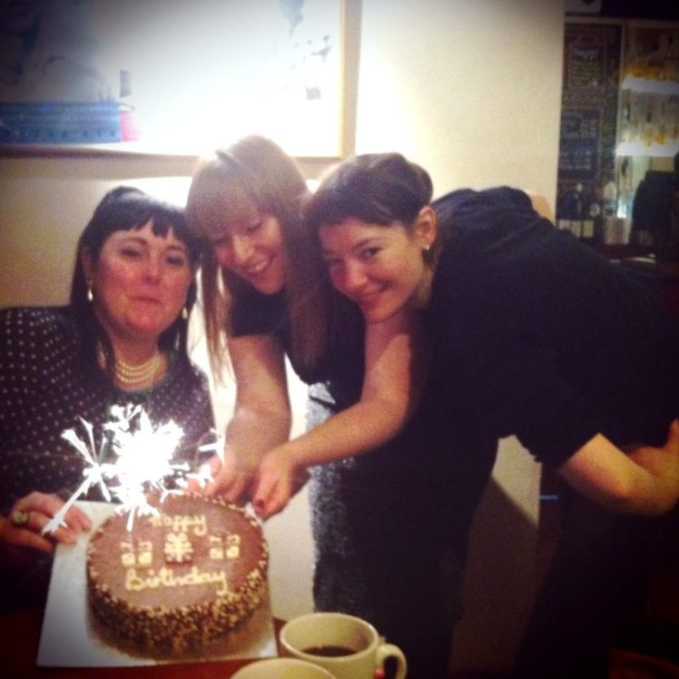 Cameo staff and cake